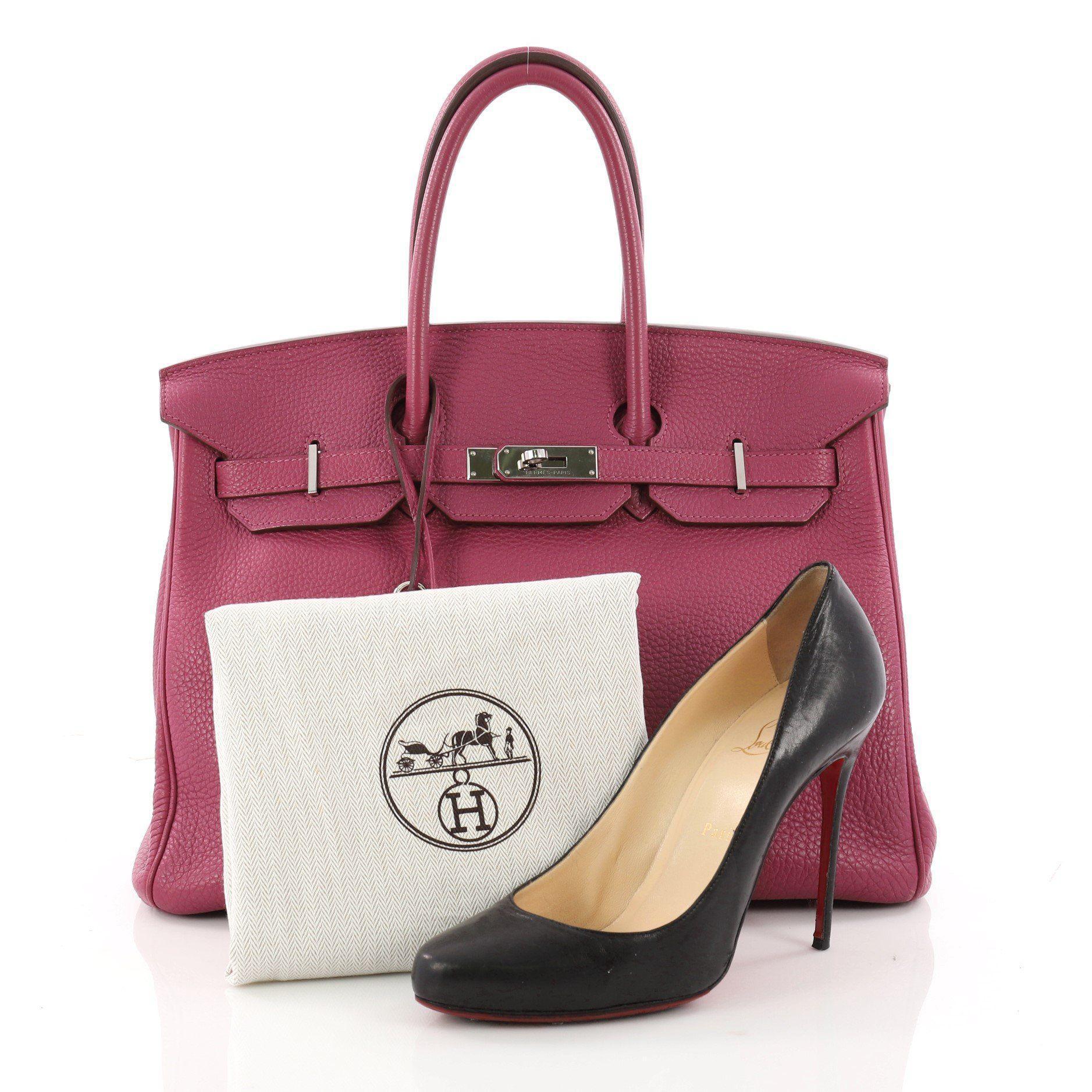 c9c68bb206df Hermès - Multicolor Pre Owned Birkin Handbag Tosca Togo With Palladium  Hardware 35 - Lyst. View fullscreen