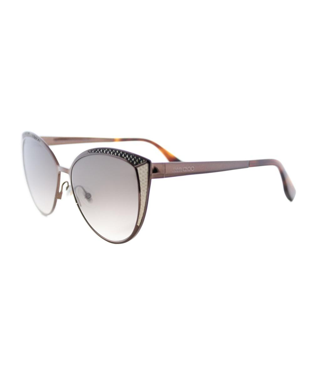f3779486879 Lyst - Jimmy Choo Domi Cat-eye Metal Sunglasses in Brown
