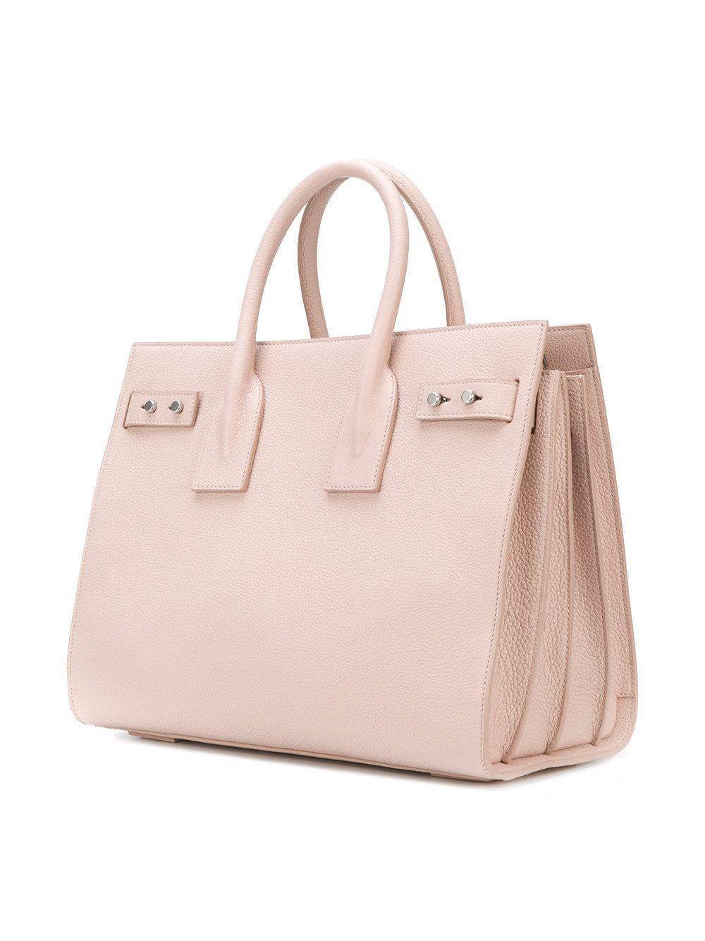 bf9bd4f30f Saint Laurent - Women s Pink Leather Handbag - Lyst. View fullscreen