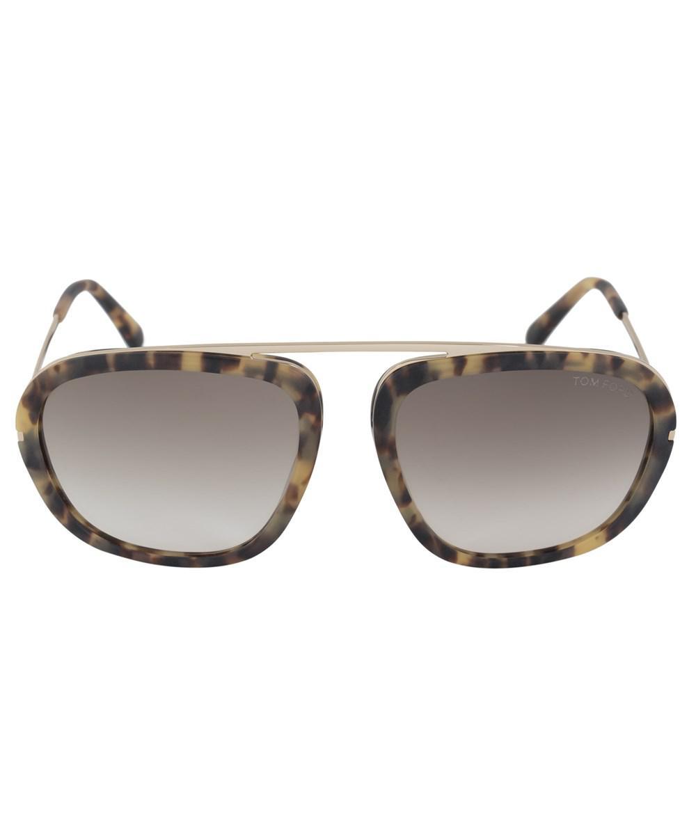 07ac9105bc0c Lyst - Tom Ford Johnson Men s Navigator Sunglasses Ft0453 53f 57 ...