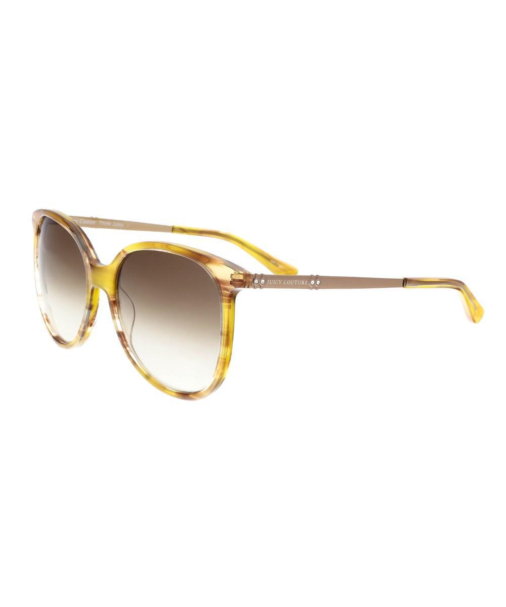 ecd478d5c0 Juicy Couture. Women s Brown Juicy 590 s 0sx7 Light Havana Square Sunglasses