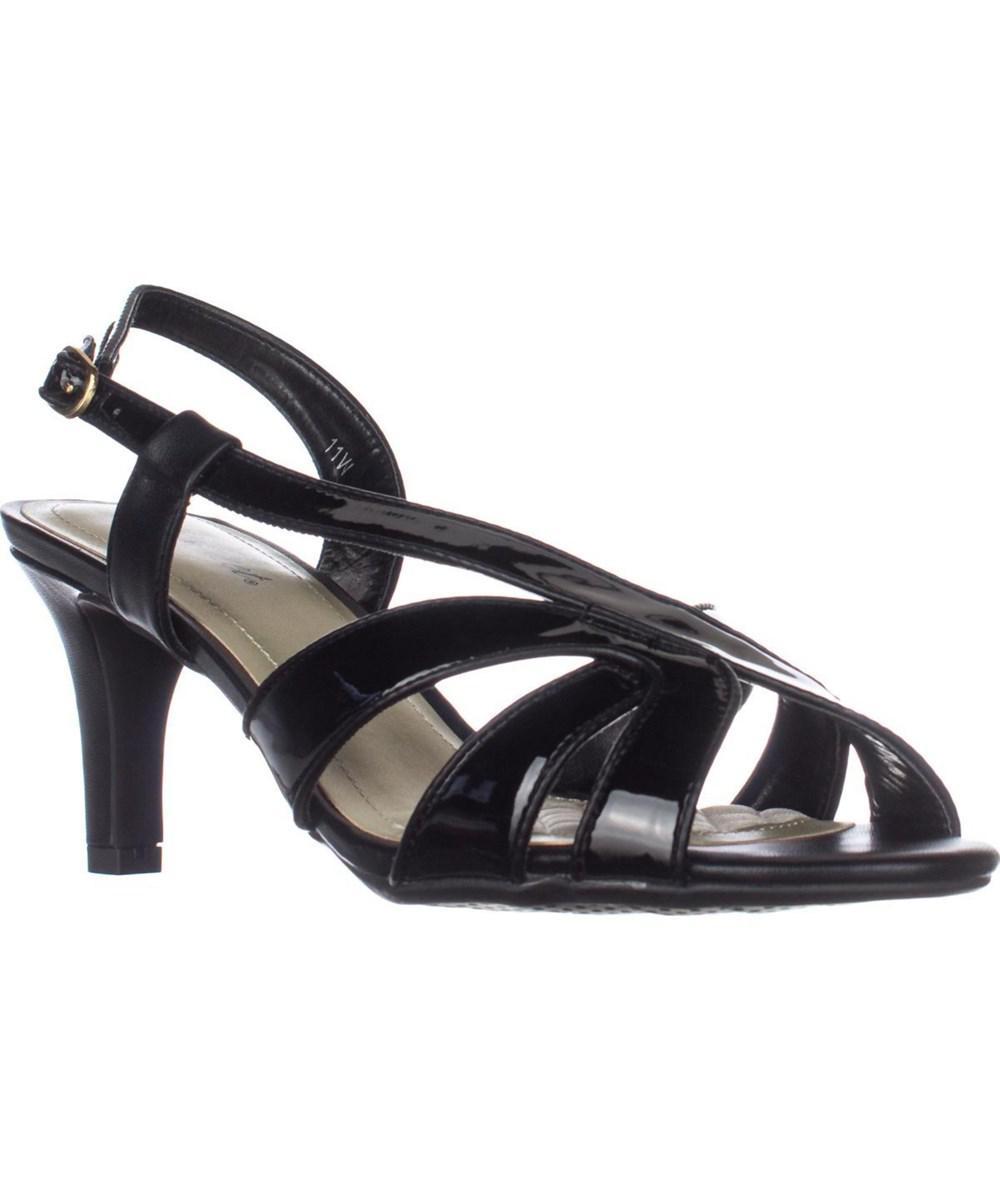 90547d14185008 Easy Street. Women s Desi Cross Strap Dress Sandals