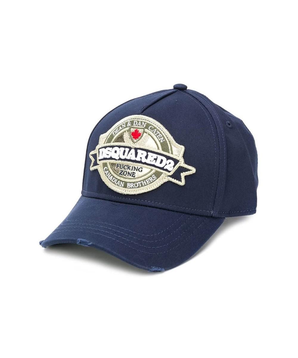 5b1b12c14c4ee8 Lyst - Dsquared² Men's Bcm012905c000013073 Blue Cotton Hat in Blue ...