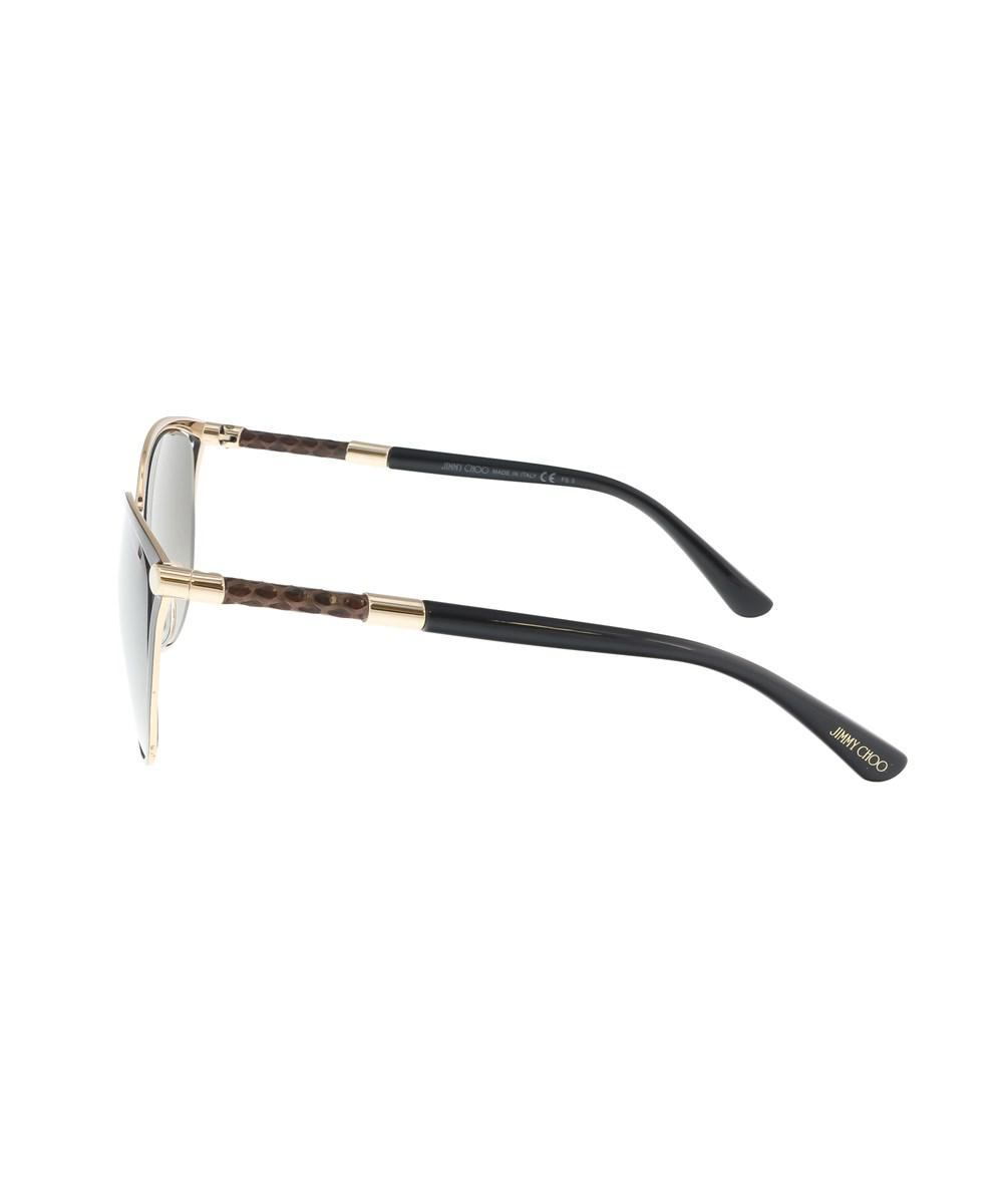 a8f19ea027b Lyst - Jimmy choo Neiza s 0j6h Matte Black Cateye Sunglasses in Black