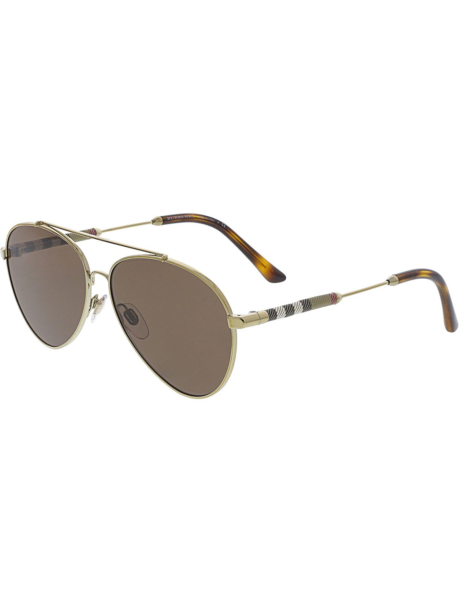65e40a018756 Burberry. Women's Mirrored Be3092q-114573-57 Brown Aviator Sunglasses