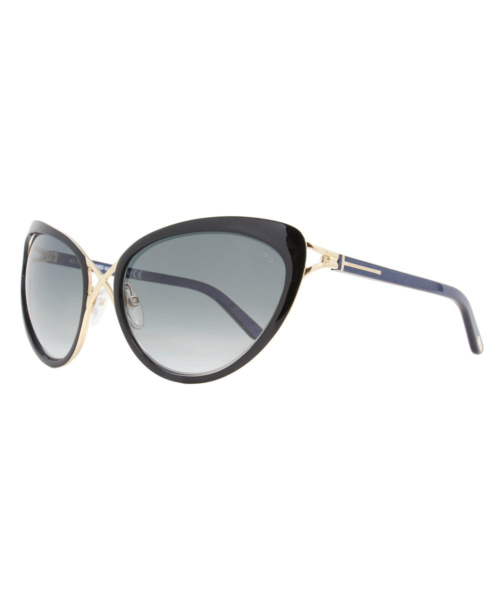 a7e3ee03ce6f Lyst - Tom Ford Butterfly Sunglasses Tf321 Daria 32b Gold black ...
