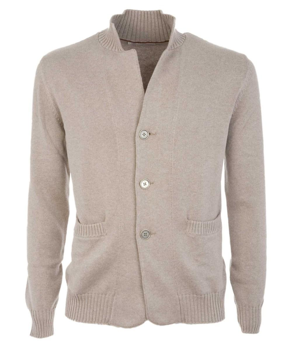 Brunello cucinelli Men's Beige Cotton Cardigan in Brown for Men | Lyst