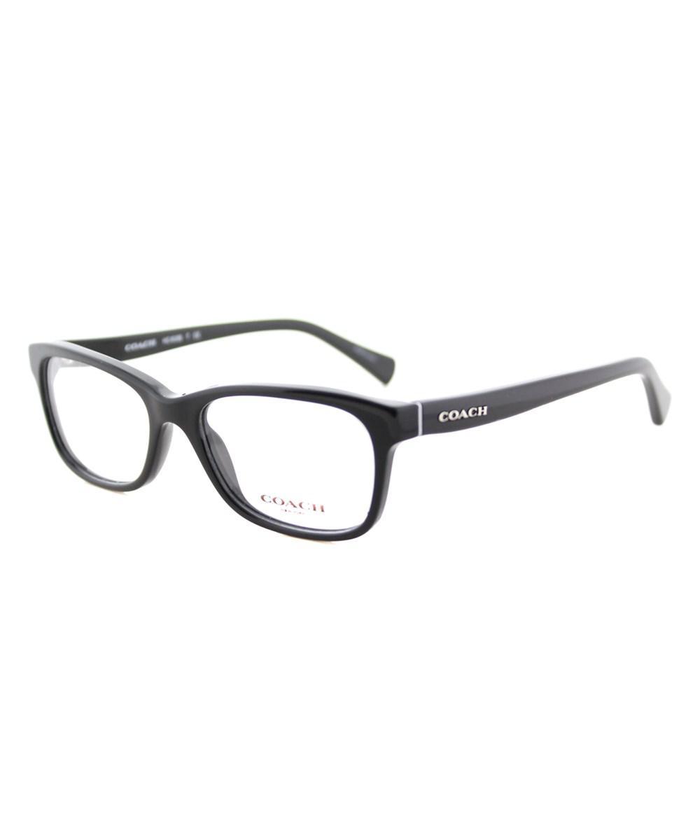 8b25a57dcb67 Lyst - Coach Rectangle Plastic Eyeglasses in Black