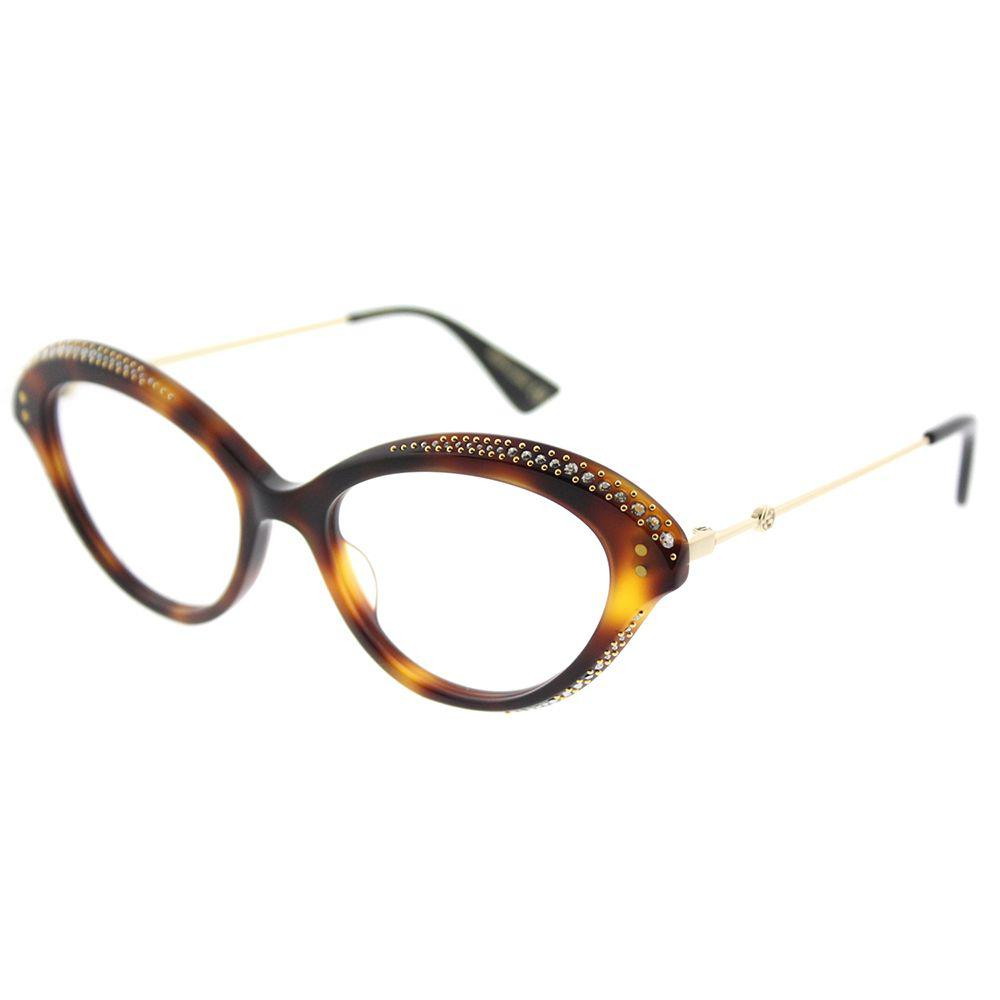 b05a068d92 Gucci Gg0215o 002 Havana Cat-eye Eyeglasses - Save ...