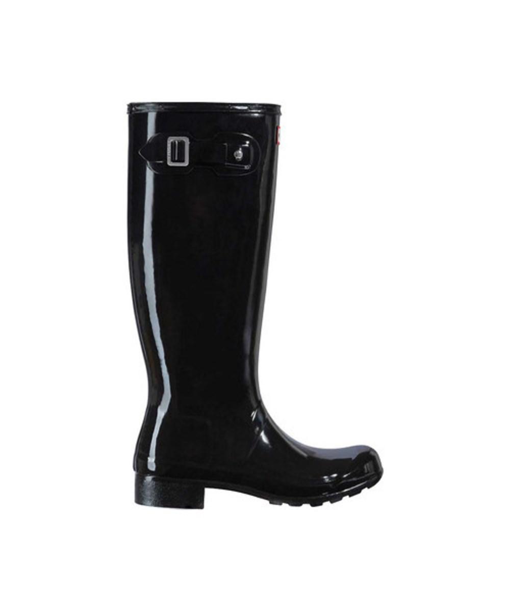 HUNTER. Women's Original Tour Gloss Rain Boot Black Size 6 M
