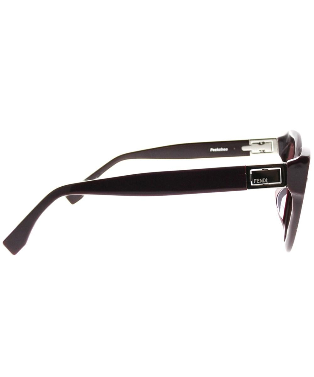 370d1c36044 Lyst - Fendi Peekaboo Ff0282 f 0t7 Plum Cat-eye Sunglasses
