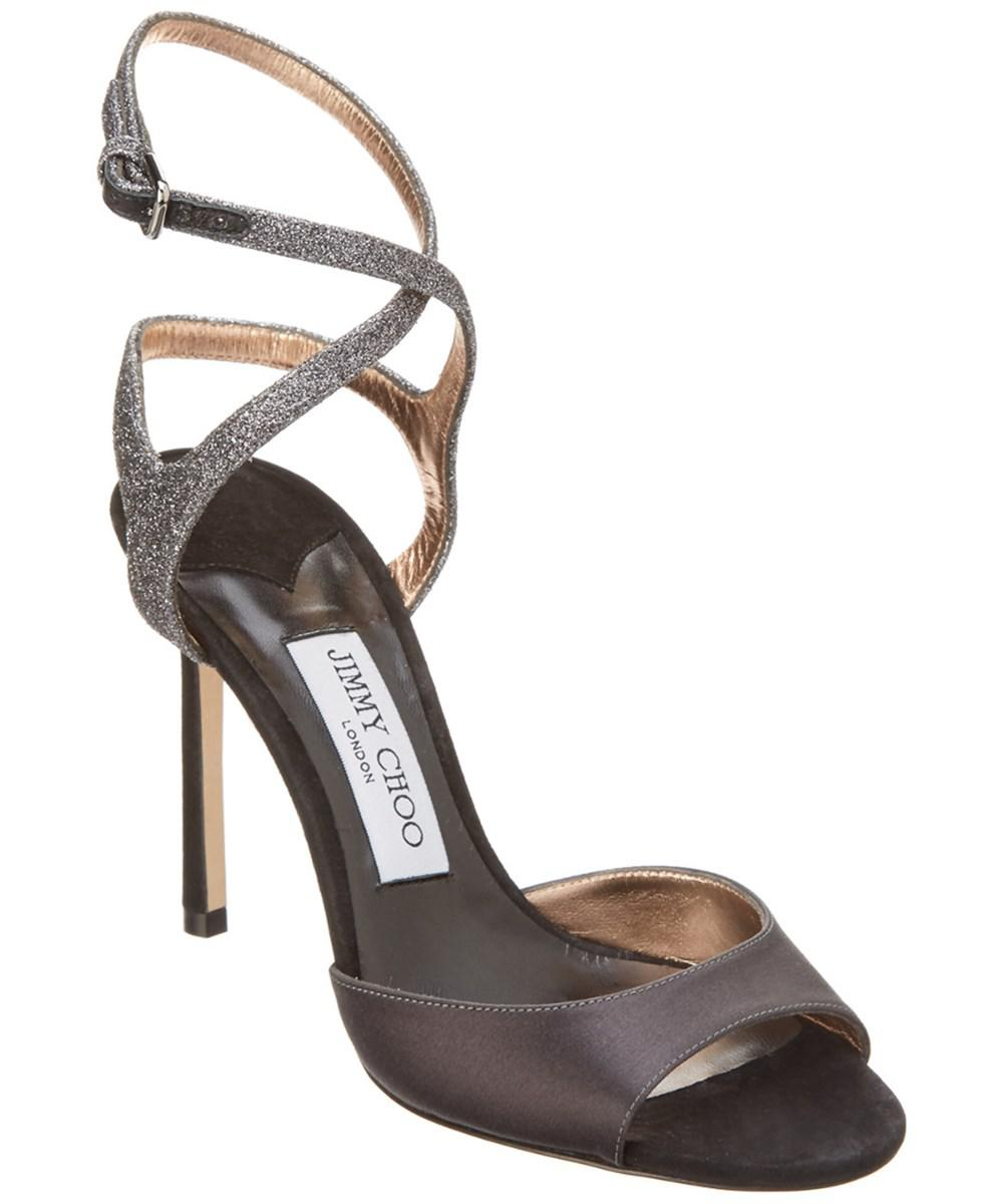 ab8231d34c80 Jimmy Choo - Multicolor Helen 100 Satin   Glitter Fabric Sandal - Lyst.  View fullscreen