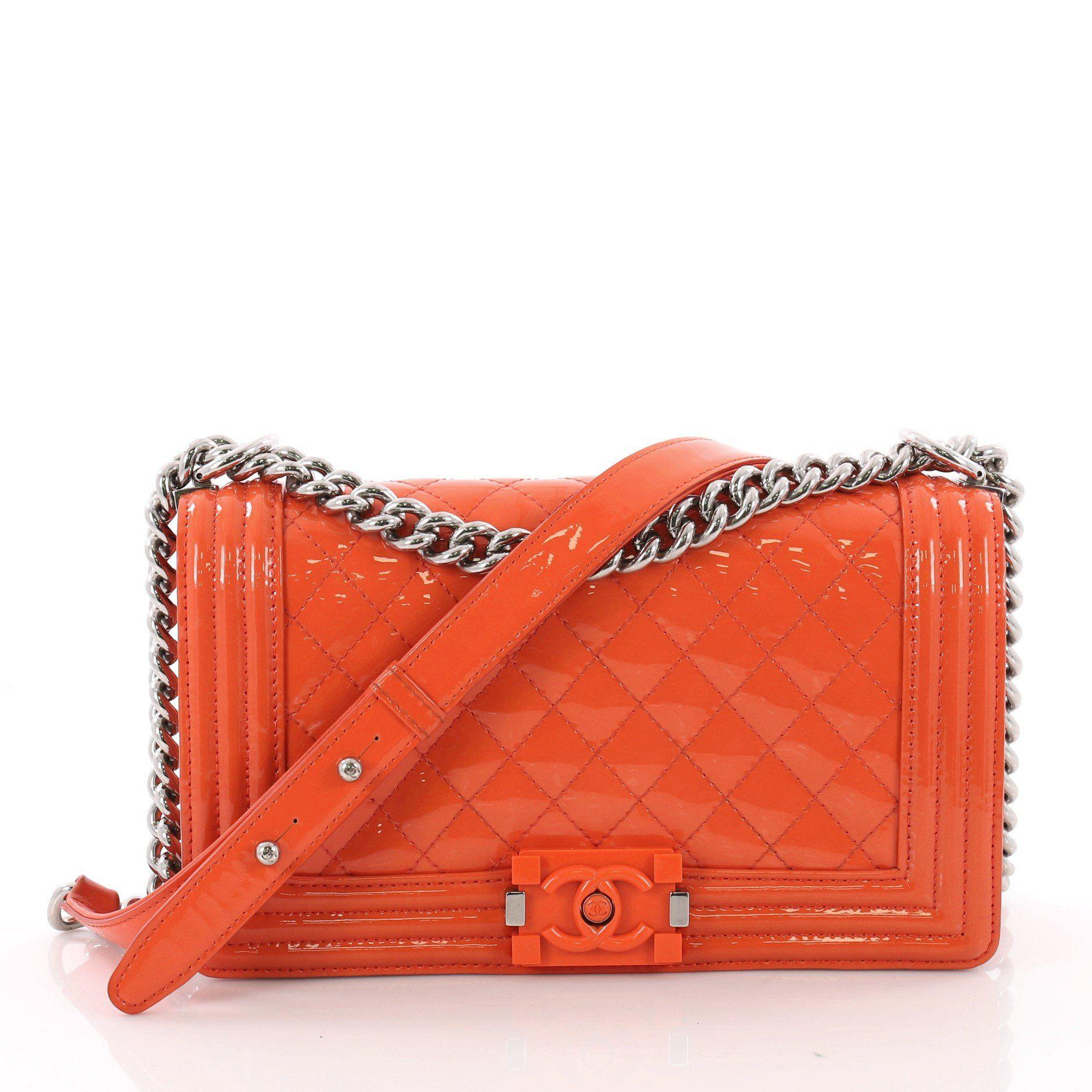4b08c71755 Lyst - Chanel Pre Owned Boy Flap Bag Quilted Plexiglass Patent Old ...