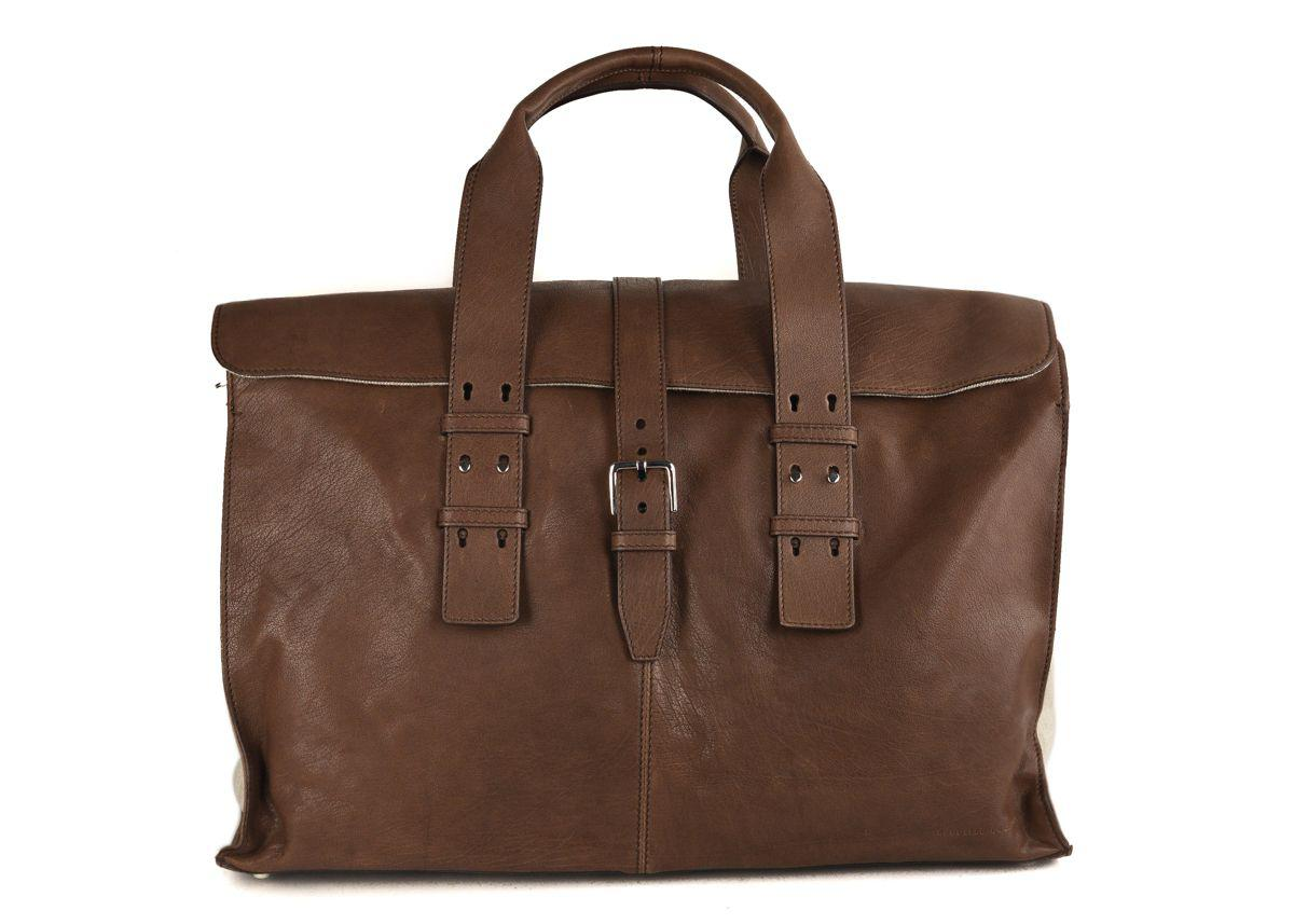 e29fe12c2faa Lyst - Brunello Cucinelli Men s Large Brown Leather Messenger Bag in ...
