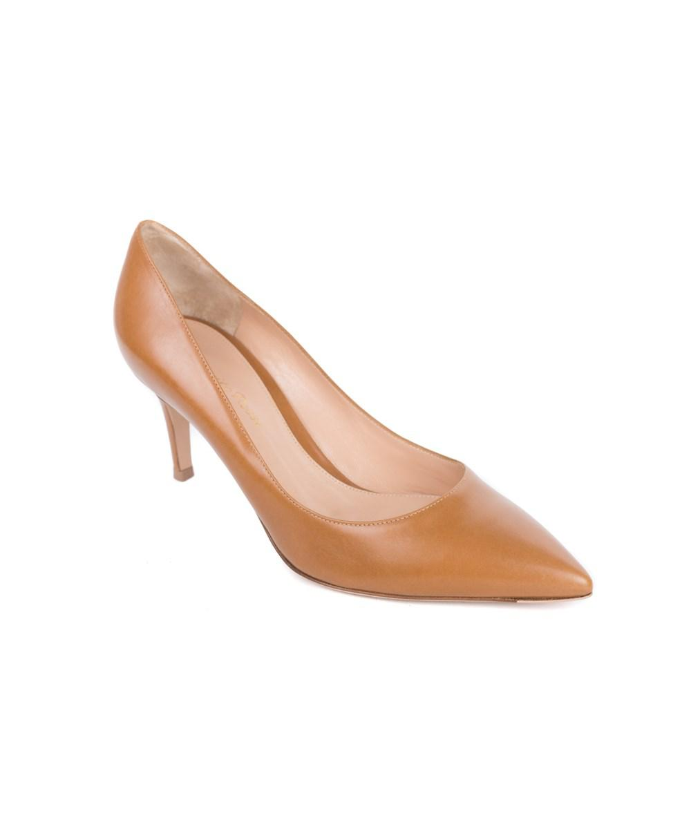 Gianvito Rossi 70 Brown Leather ... discount store footaction cheap price lvYuWH27R