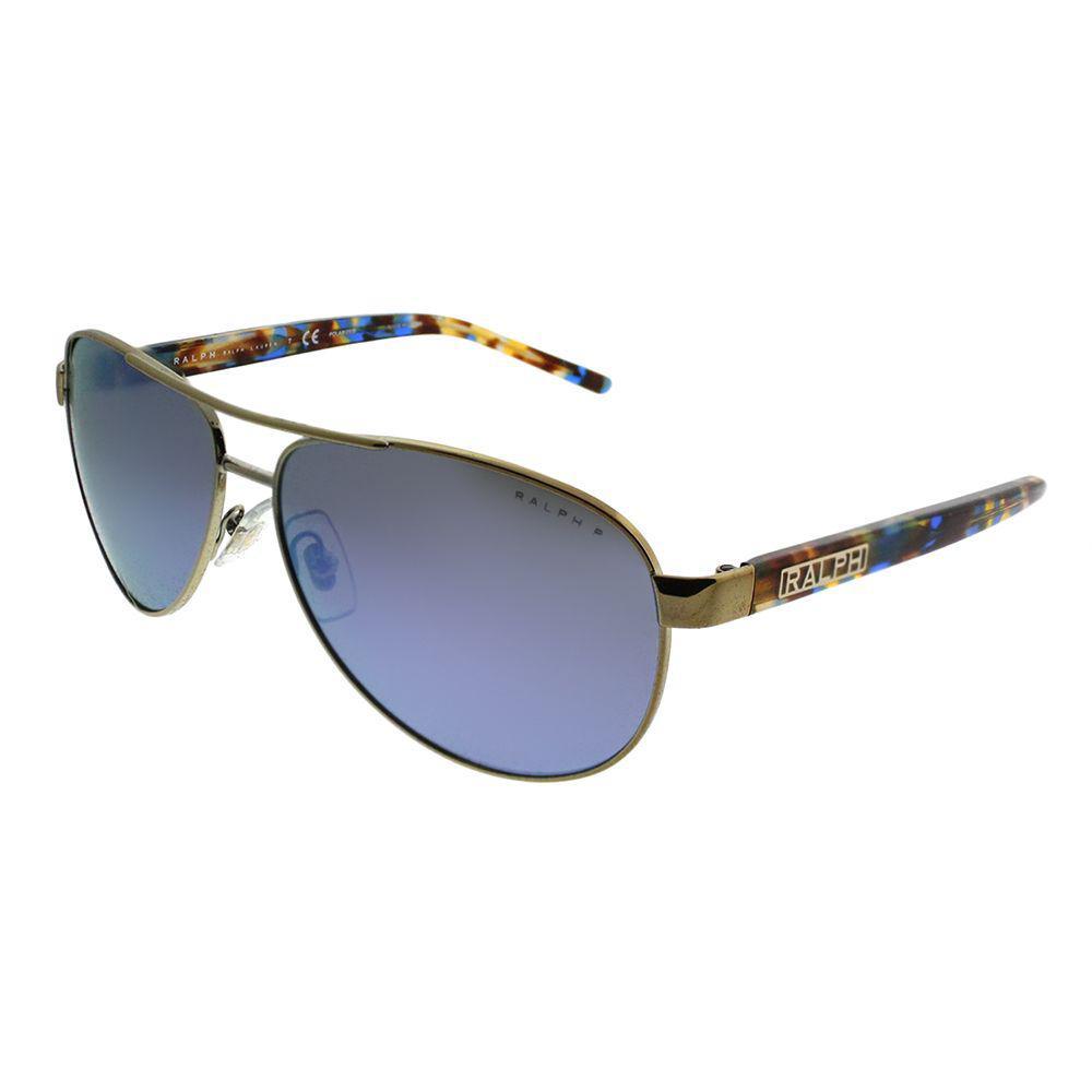 27f78feb96 Ralph By Ralph Lauren. Women s Ra 4004 911622 Light Gold Aviator Sunglasses