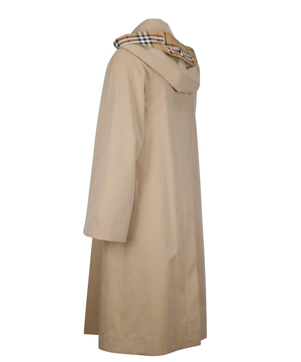 ceafffe082d57 Lyst - Burberry Women s Beige Cotton Coat in Brown