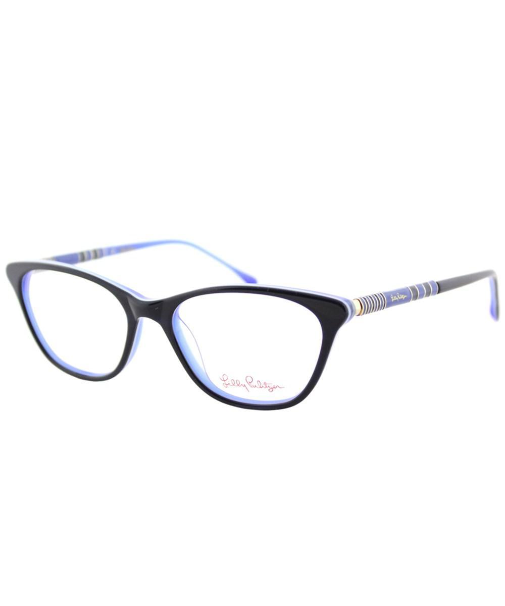 34b5894832 Lilly Pulitzer. Women s Blue Sanfor Nv in 51mm Navy Indigo Cat-eye  Eyeglasses