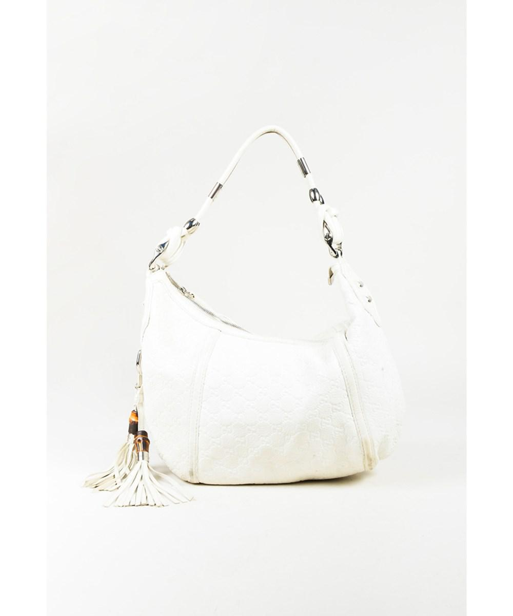 7cb05389a94 Lyst - Gucci 1 Cream Leather