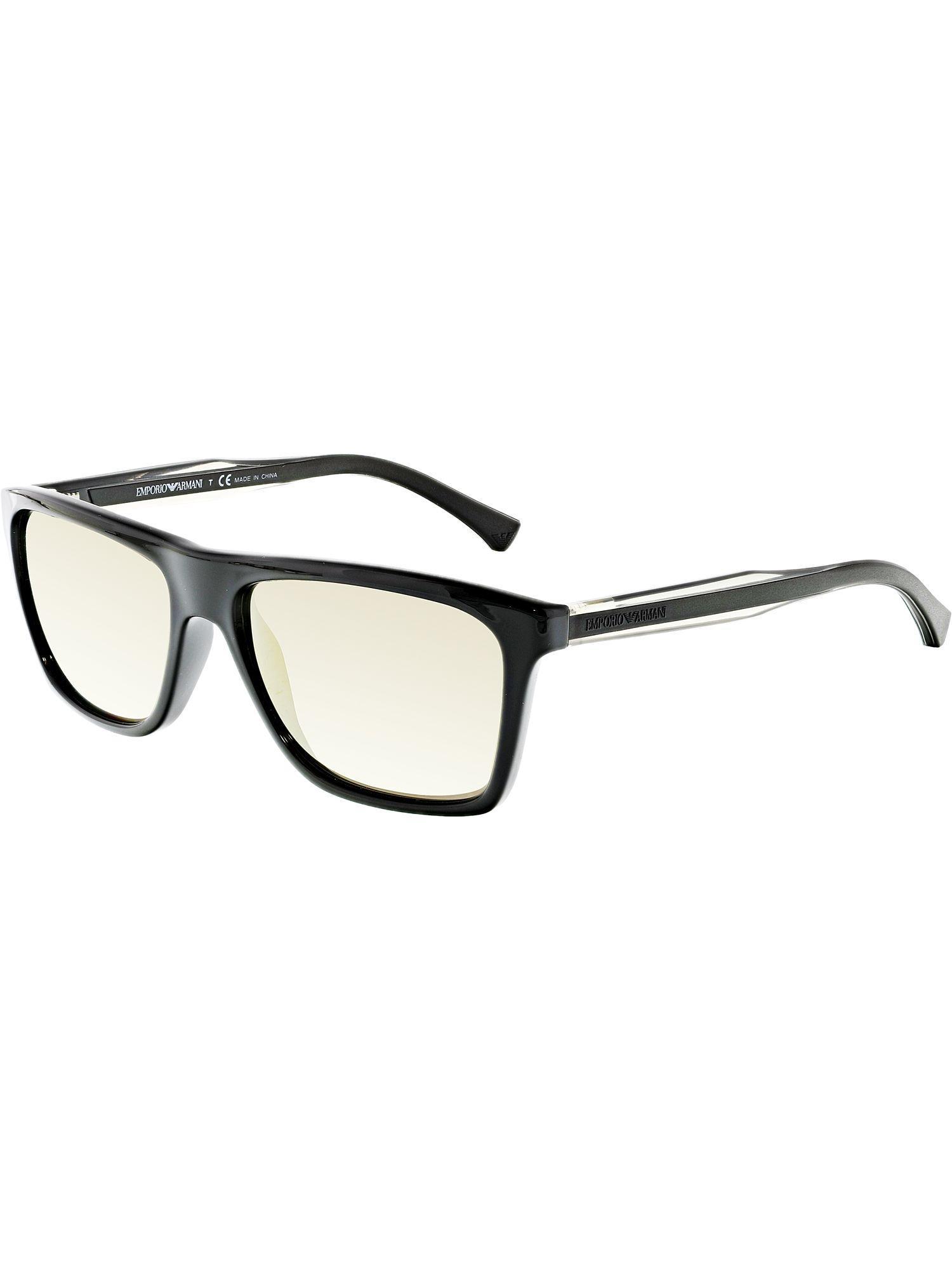 ae6b08e87d4 Emporio Armani. Men s Mirrored Ea4001-50175a-56 Black Rectangle Sunglasses