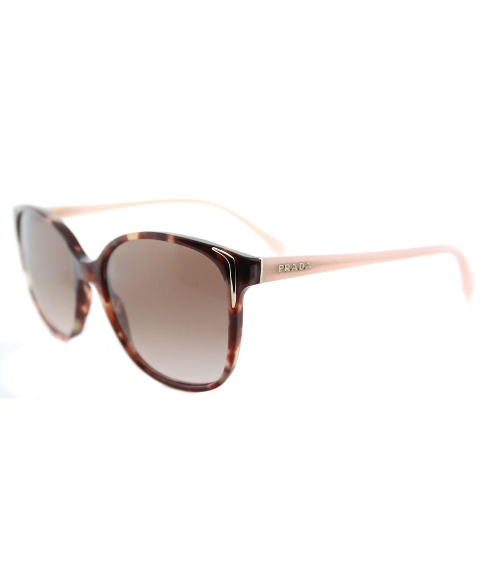 18abf1c808 Lyst - Prada Square Plastic Sunglasses in Brown