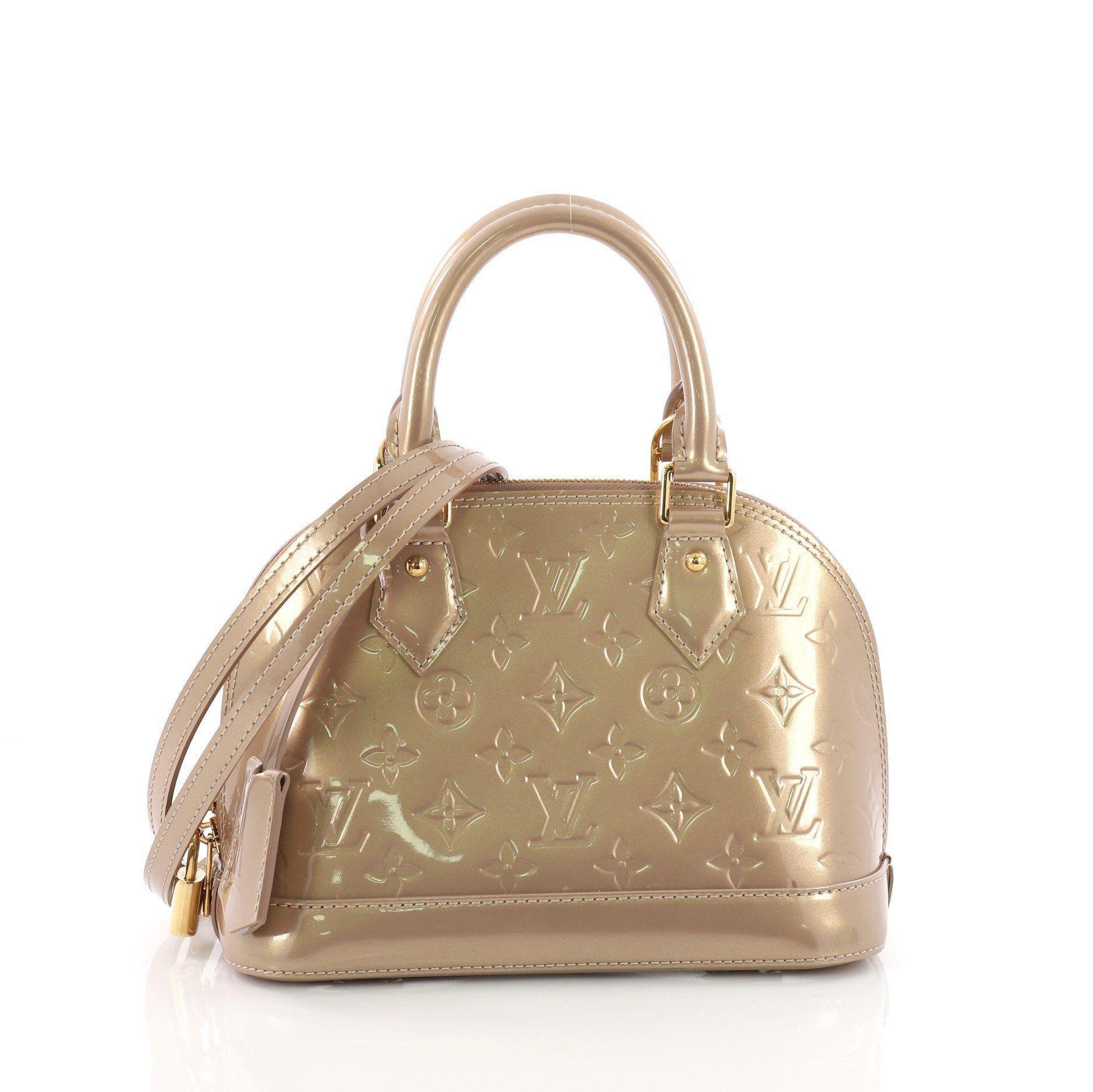 21e01b2badff Lyst - Louis Vuitton Pre Owned Alma Handbag Monogram Vernis Bb