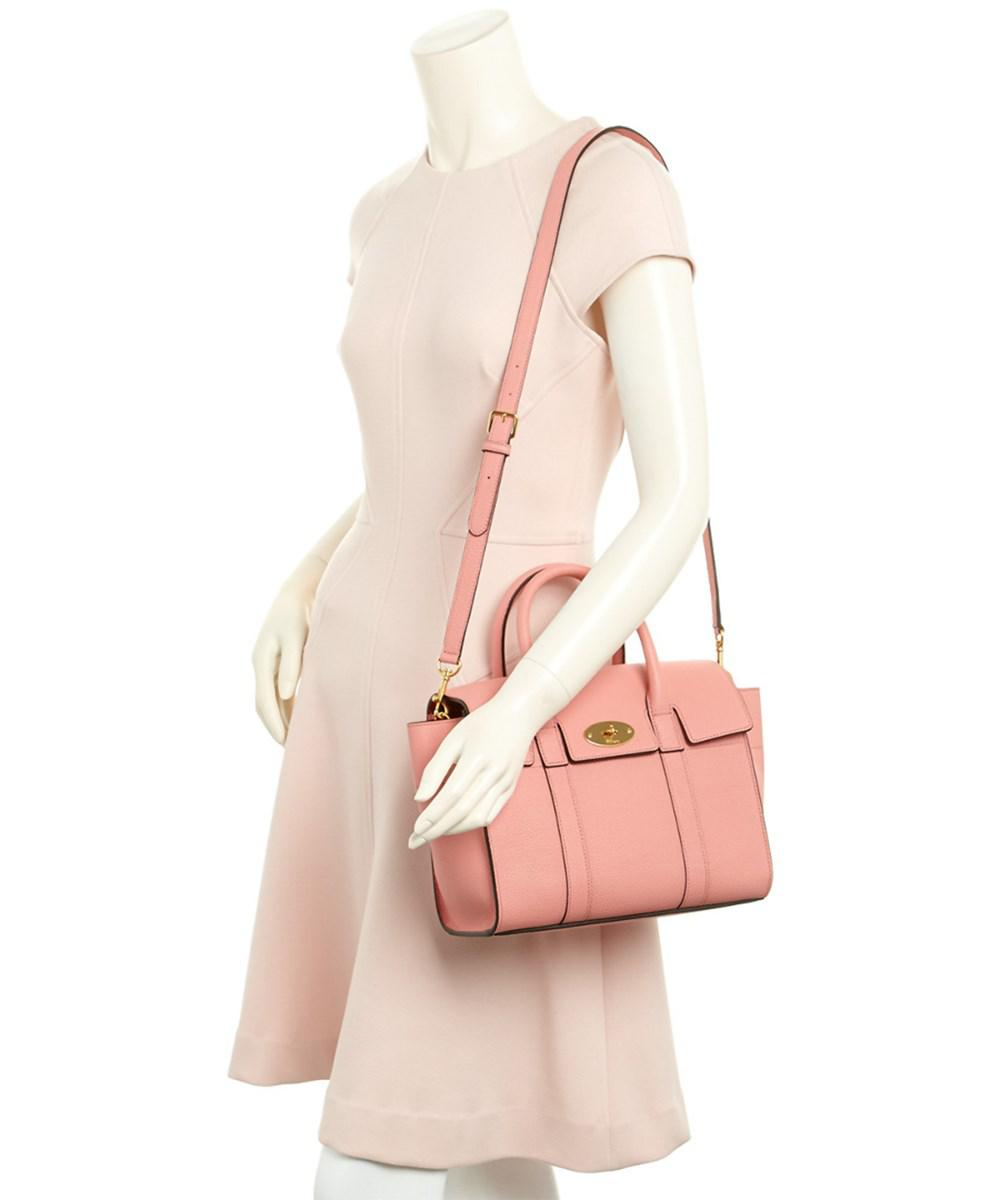 53352e94ca ... closeout lyst mulberry small new bayswater classic grain leather  satchel in 9fe05 f4f10