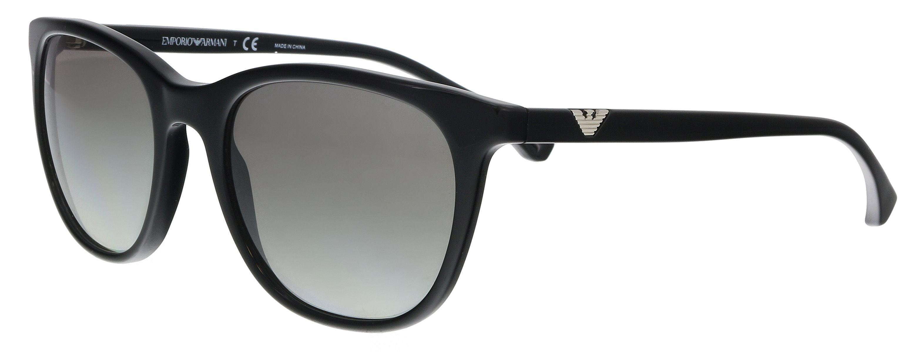 baddd06800f Lyst - Emporio Armani Ea4086 501711 Black Square Sunglasses in Black