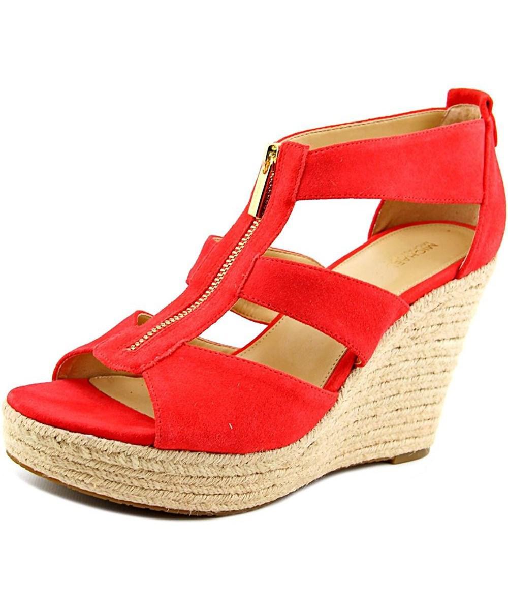 e7ff6536606d MICHAEL Michael Kors. Red Womens Damita Leather Open Toe Casual Platform  Sandals
