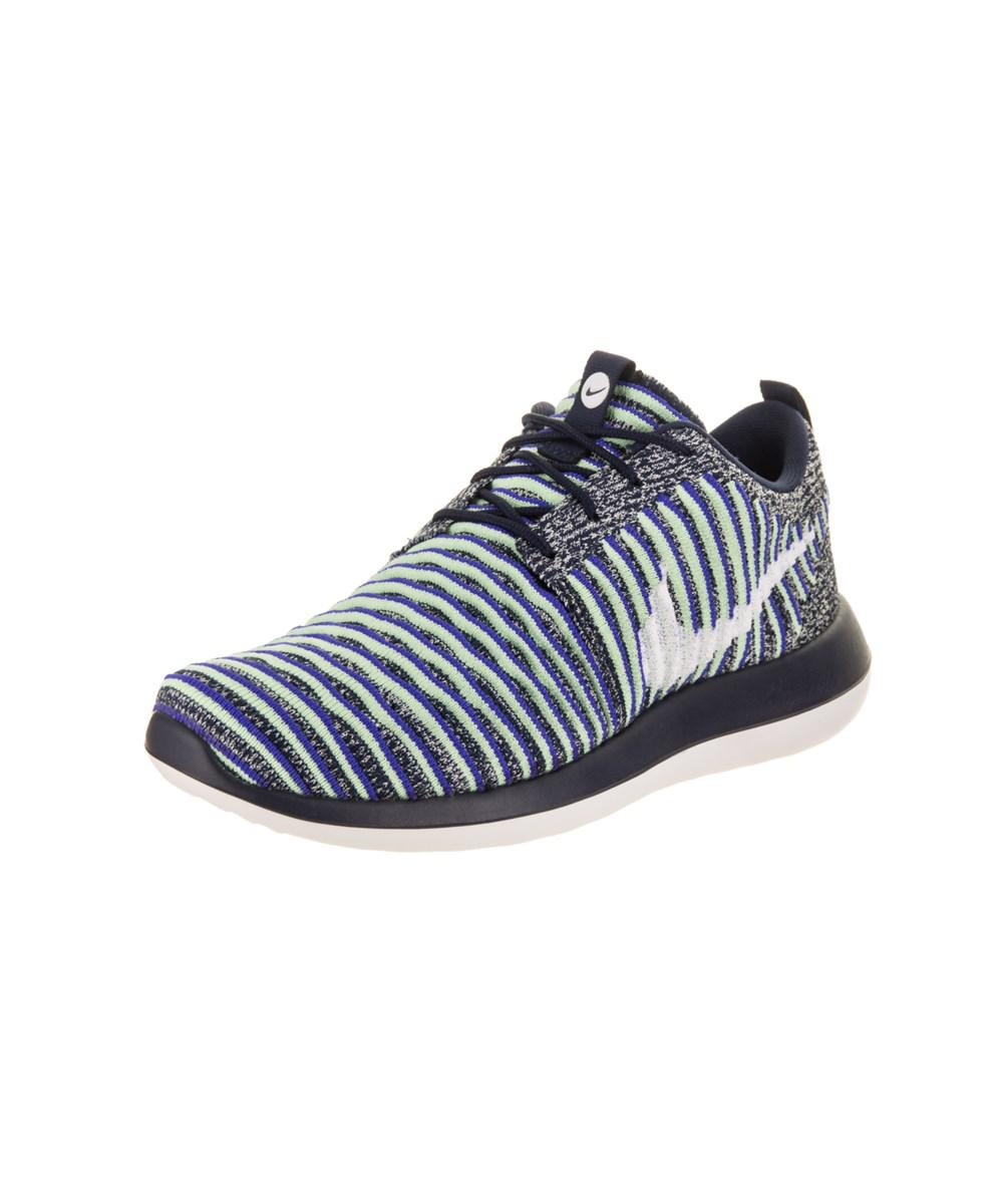 new arrival 29c5a bd513 Nike. Blue Women s Roshe Two Flyknit Running Shoe