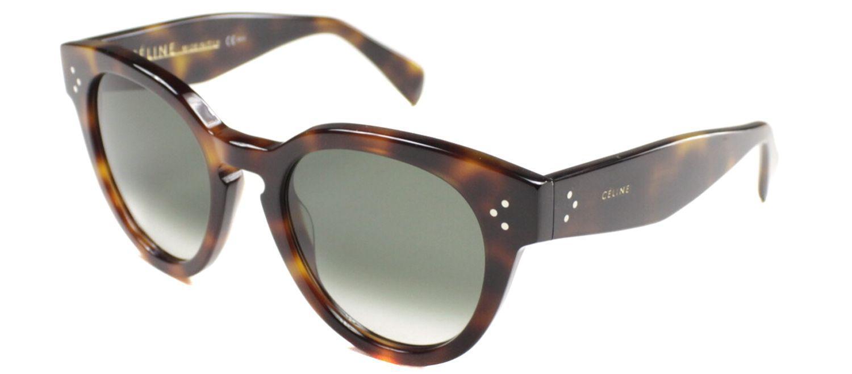 53f216c706 Lyst - Céline Cl41049 05l Brown Round Sunglasses in Brown