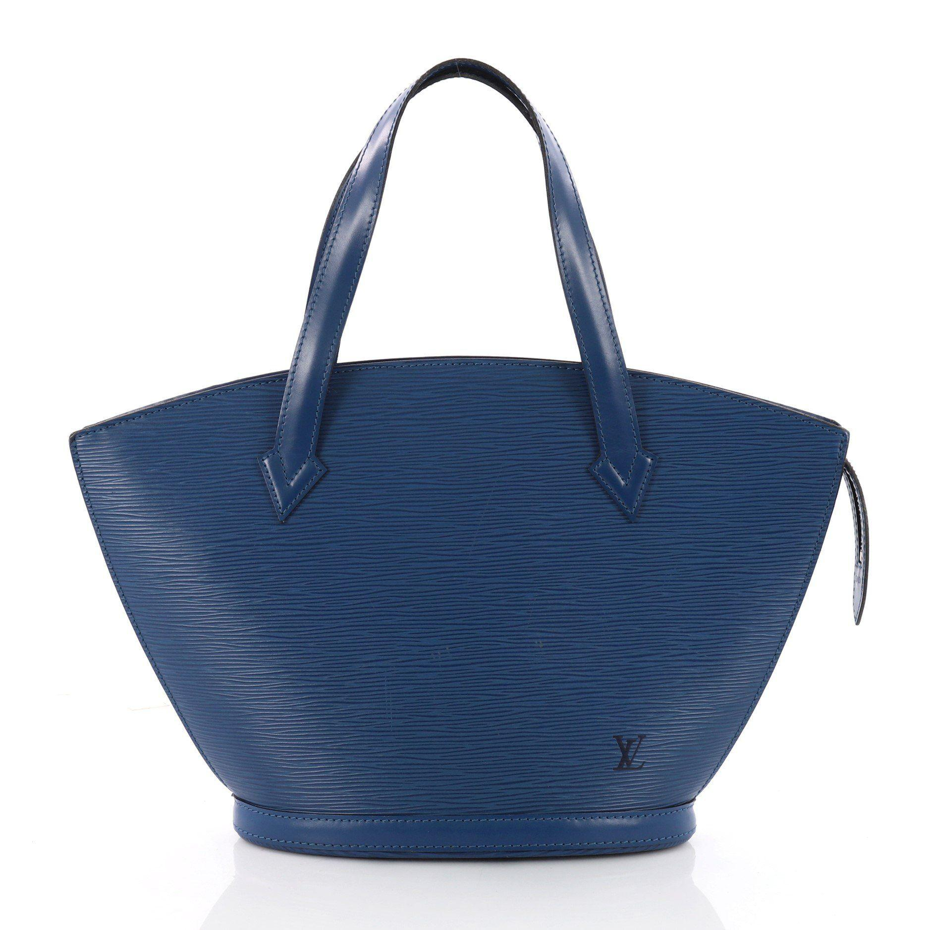 ff9b4482c0ec Lyst - Louis Vuitton Saint Jacques Handbag Epi Leather Pm in Blue