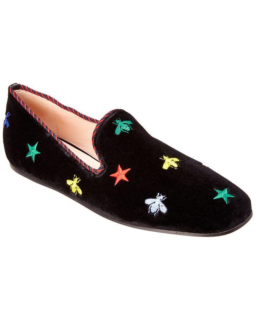 8b7f1bf1cf69 Gucci. Women s Embroidered Velvet Slipper