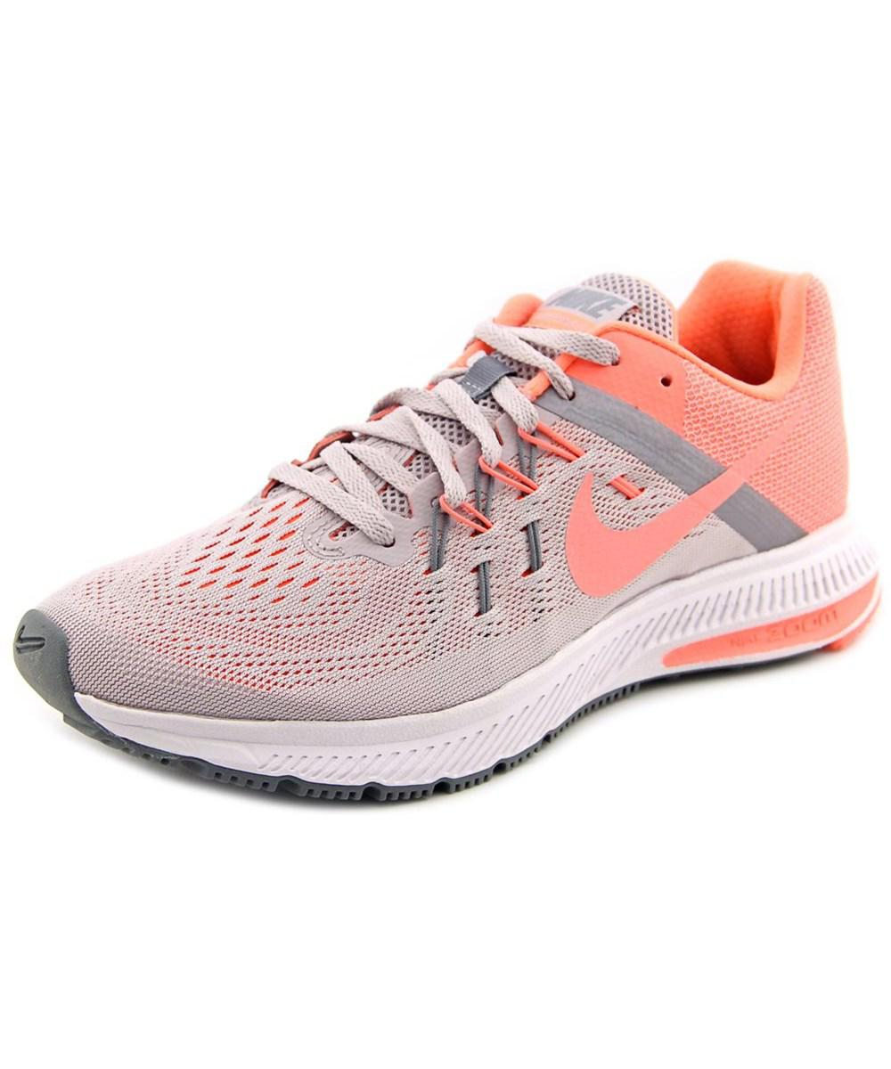 sports shoes b254b b0517 Lyst - Nike Zoom Winflo 2 Women Round Toe Synthetic Gray Running ...