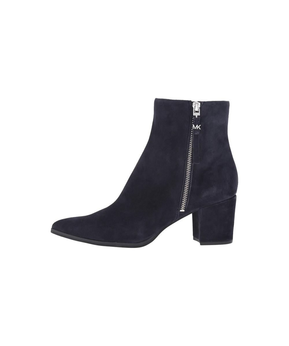 Womens Dawson Mid Bootie Leather Pointed Toe Ankle Fashi.