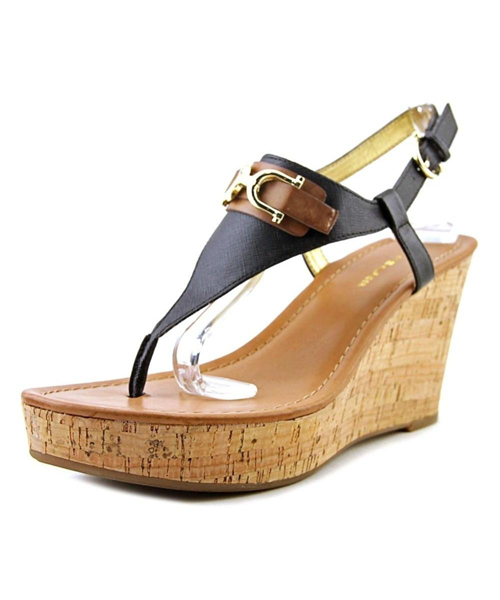 e593f50172d Lyst - Tommy Hilfiger Women's Myrtie Thong Wedge Sandal in Metallic