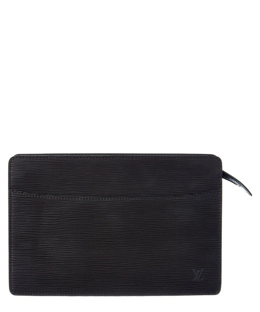 d3b88855e9ba Lyst - Louis Vuitton Noir Epi Leather Pochette Homme Clutch in Black
