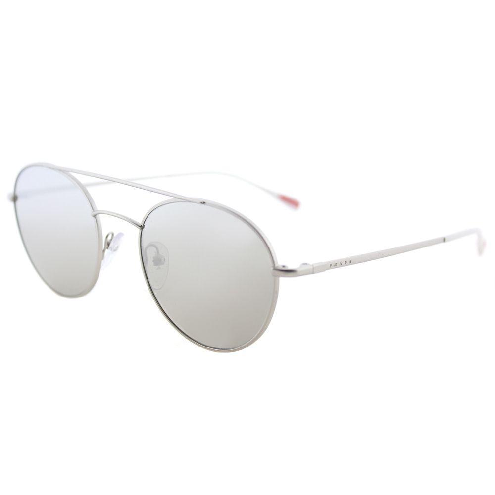 6edf21fa68ff Prada. Women s Metallic Panthos Ps 51ss 1ap2b0 Matte Silver Round Sunglasses