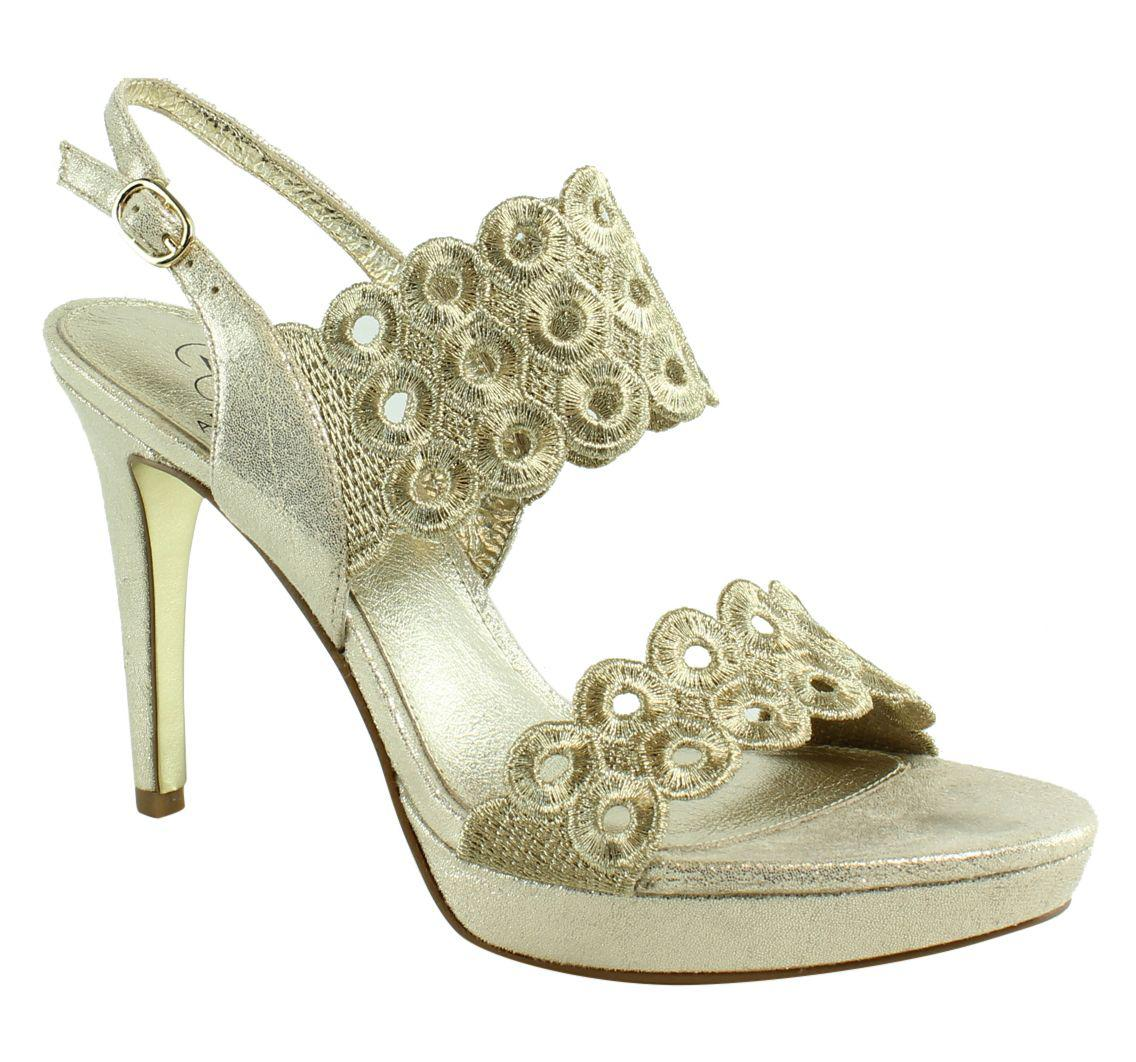 48d2ebc2e55 Lyst - Adrianna Papell Womens Adia Goldembroidery Ankle Strap Heels