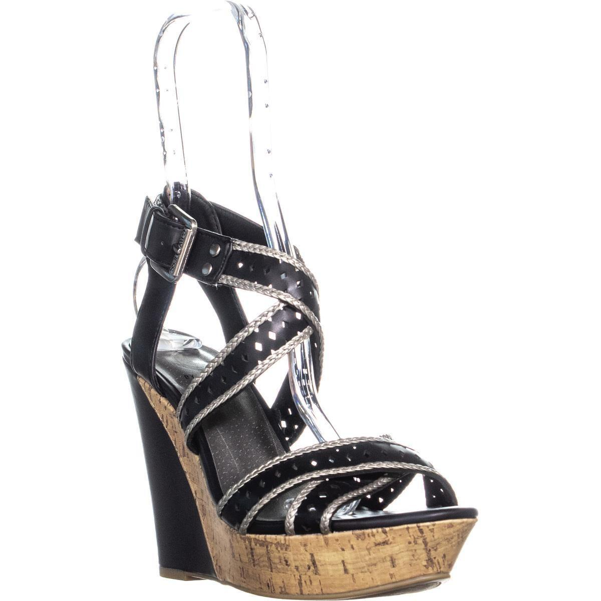 f9de4435195ebd Guess. Women s G By Bethia Strappy Wedge Sandals