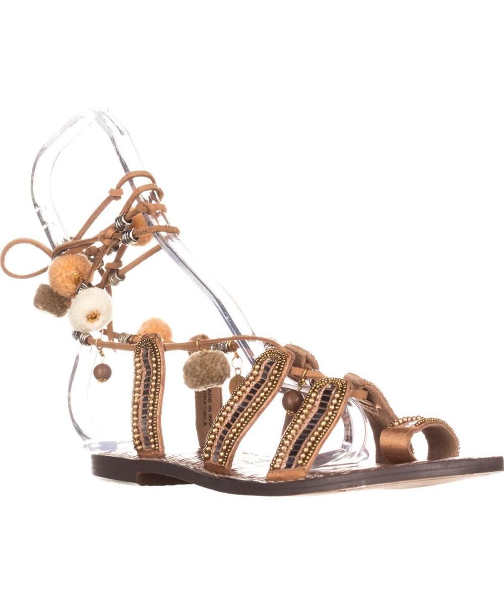 951f9c881 Lyst - Sam Edelman Graciela Flat Lace-up Sandals