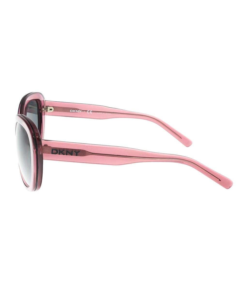 7934b9f0e60 Lyst - Dkny Dy4107 360387 Clear Purple Cateye Sunglasses in Purple