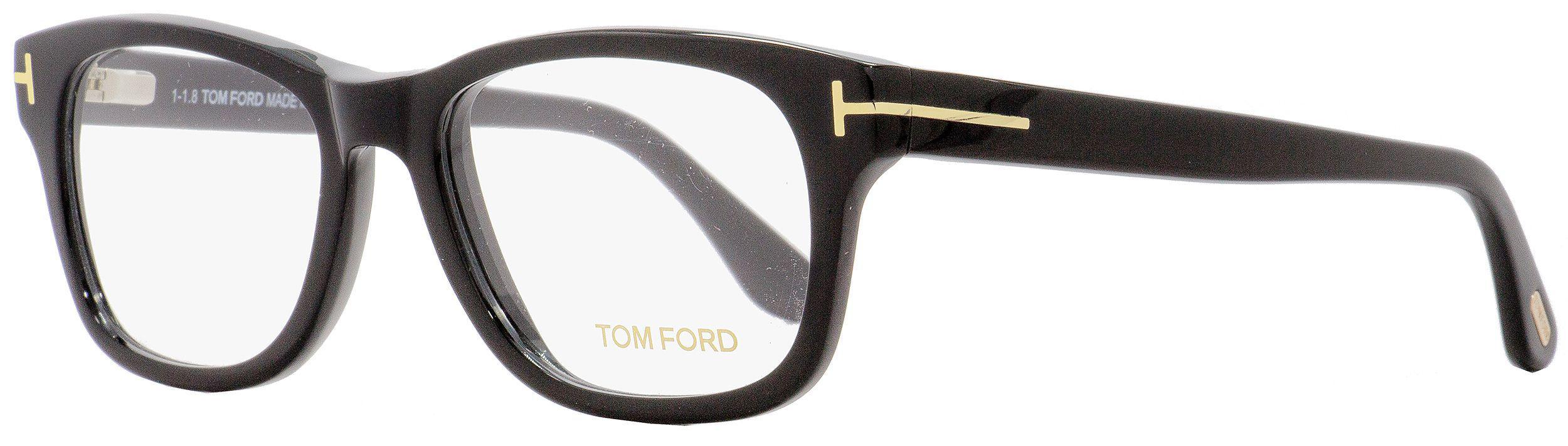 9be99b446eb07 Tom Ford - Rectangular Eyeglasses Tf5147 001 Shiny Black gold 52mm Ft5147  for Men -. View fullscreen