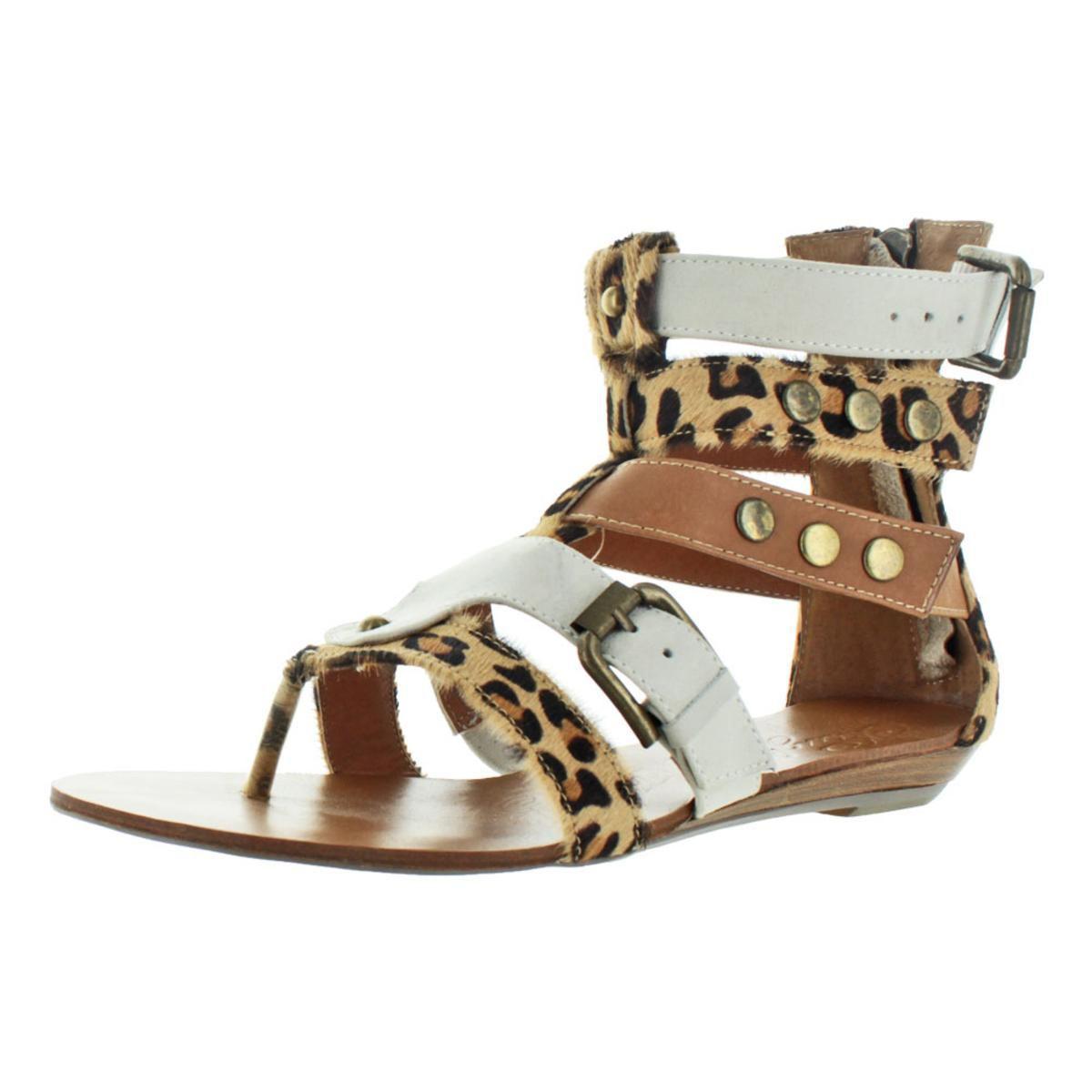 be52b16740cf Naughty Monkey. Brown Womens Jet Animal Print Caged Gladiator Sandals