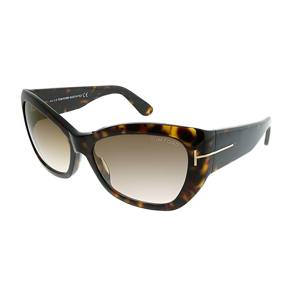 62066863a9 Lyst - Tom Ford Corinne Ft 0460 52g 58 Havana Cat-eye Sunglasses