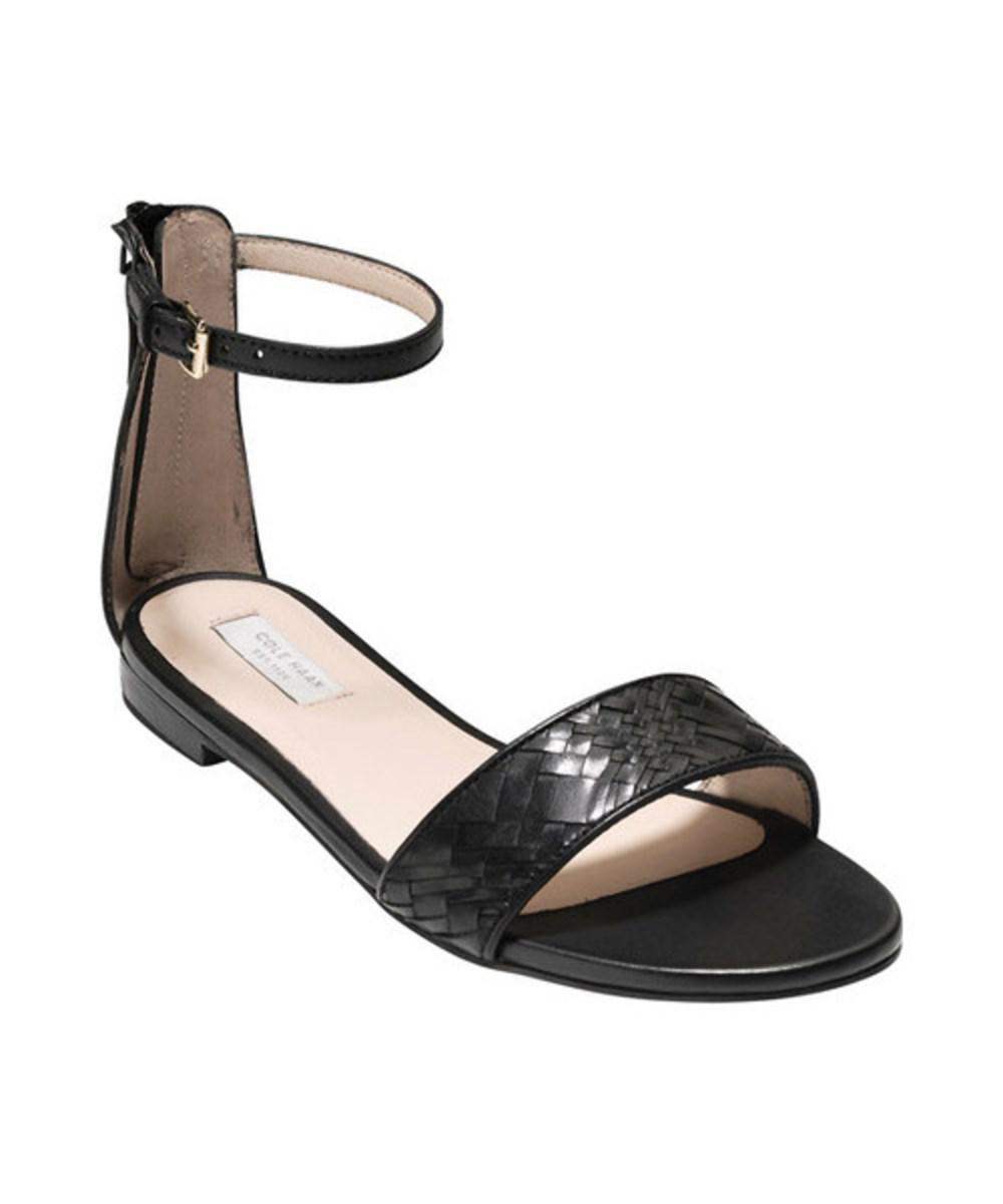 b191c3398639 Lyst - Cole Haan Women s Genevieve Weave Ankle Strap Sandal in Black ...