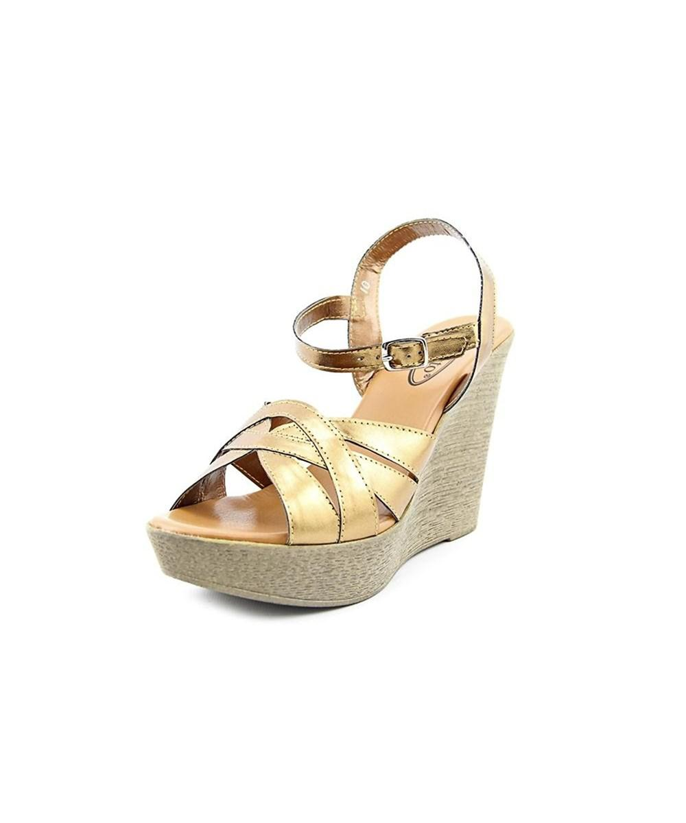 7a5af09483a3 Callisto Dessy Women Synthetic Wedge Sandal in Brown - Lyst