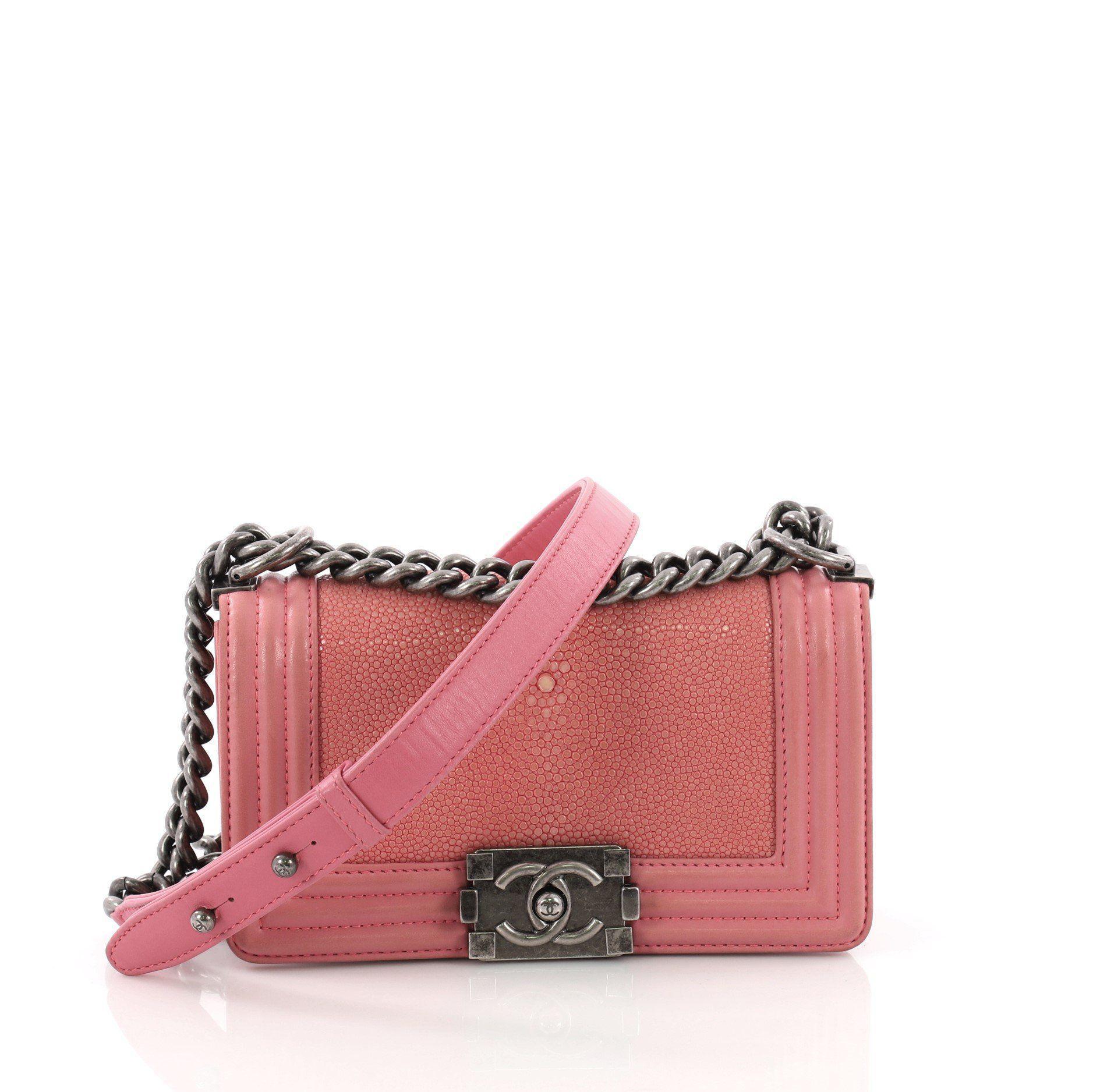 3d9c0c9fce3d68 Chanel. Women's Pre Owned Boy Flap Bag Stingray Small