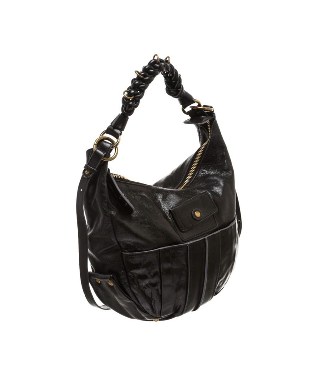 Louis Vuitton Pre Owned - Chloe Black Leather Heloise Hobo Crossbody ... 19948ee62c18c