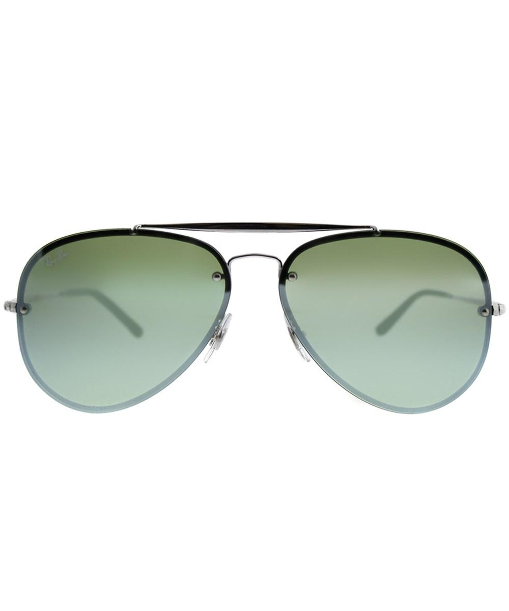 dcc1f83b83 Ray-Ban - Metallic Blaze Aviator 0rb3584n 905130 61mm Silver Aviator  Sunglasses - Lyst. View fullscreen